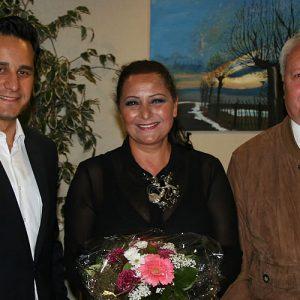 Mahmut Özdemir (MdB), Serap Riedel und Hans Paschmann (Bezirksbürgermeister)